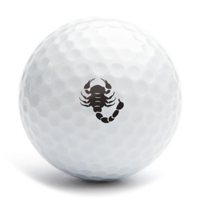 Golf ball stamp A12 sign Scorpio