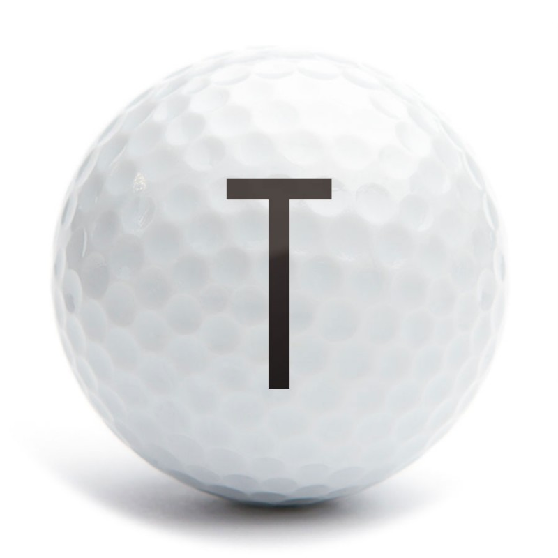 Golf Ball Stamp A25 Motif Letter T 1a25s04