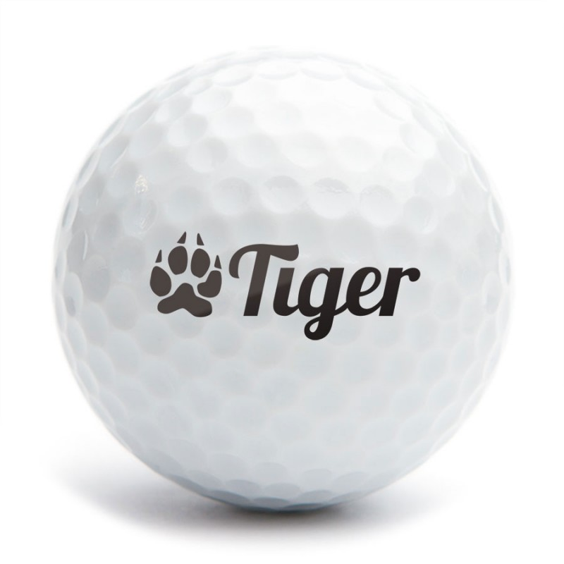 Golf Ball Stamp A25 Motiv Tiger 1 1a25s16