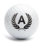 Golf ball stamp A25 motif letter A
