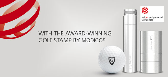modico Golfballstempel gewinnt red dot design award 2012